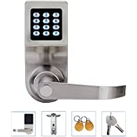 Digital Door Lock,Unlock with ID Card, Code and Key,Handle Direction Revisible 086S