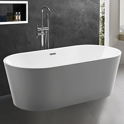 5 great freestanding bathtubs july 2018 for Best freestanding tub material