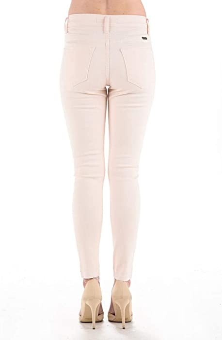 Kan Can Stephine-Mindy High Rise Skinny Colored Jeans Baby Pink KC5002SF