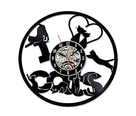 SKYTY Moda Creativo Vinilo CD Registro Reloj De Pared Retro ...