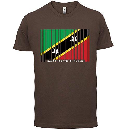 Saint Kitts and Nevis / St. Kitts und Nevis Barcode Flagge - Herren T-Shirt - Schokobraun - XXL
