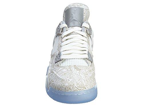 chrome Air Herren 4 Turnschuhe Laser Weiß Jordan metallic white Retro silver Nike azq6pw5w