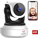 Victure WiFi IP Camera 720P HD Wireless Indoor Home Security Surveillance Camera with Night Vision Motion Detection Playback 2-Way Audio Dome Home Monitor for Baby Elder Pet Pan/Tilt/Zoom (720P)