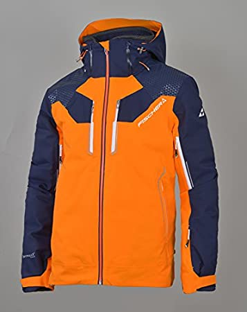 e6a99b4cb67d0 Fischer Hans Knauss Jacket - orange  dark blue  Amazon.de  Sport ...