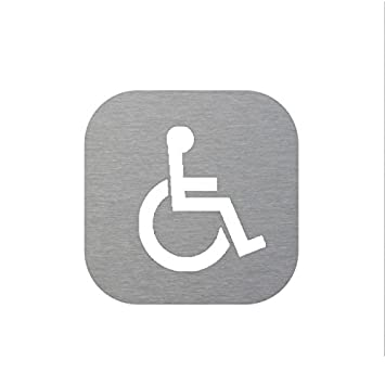Plaque Inox De Porte Wc Pmrhandicapé Amazonfr Bricolage
