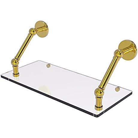 Allied Brass P1000 1 18 PB Prestige Skyline Collection 18 Inch Floating Glass Shelf