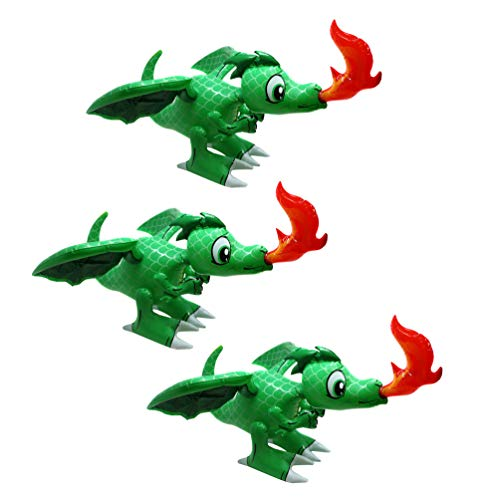 SN Incorp. Inflatable Dragon Toy for Party Decorations and Party Favors - 30 Inch Dragon Figure (Pack of 3)]()