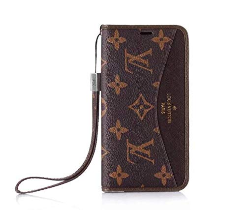 Phone Case for iPhone Xs MAX, Classic Style Elegant Luxury Fashion Designer Wallet Case with Lanyard and Card Holder Cover iPhone Xs MAX - US Fast Deliver Guarantee - Vuitton Case Wallet Louis Iphone