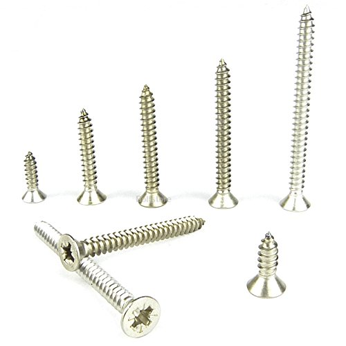 No10 x 80 COUNTERSUNK CSK SELF TAPPING SCREW A4 MARINE GRADE 100 PACK (Countersunk Tapping Screw)