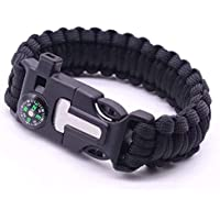 Survival Bracelets with Whistle Scraper and Matches for Outdoor