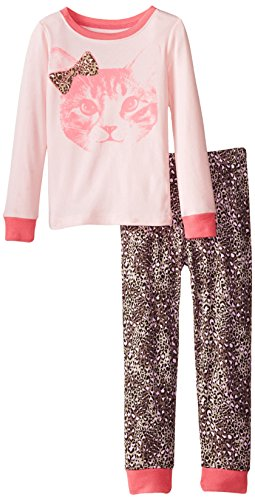 The Children's Place Girls' Cheetah-Motif Two-Piece Pajama Set