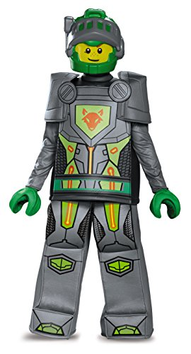 Lego Brick Halloween Costume (Disguise Aaron Prestige Lego Nexo Knights Costume, Gray, Small)