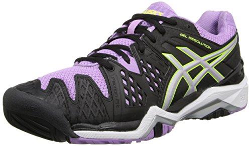 ASICS Women's GEL-Resolution 6 Tennis Shoe, Berry/Flash Coral/Plum, 8.5 M US