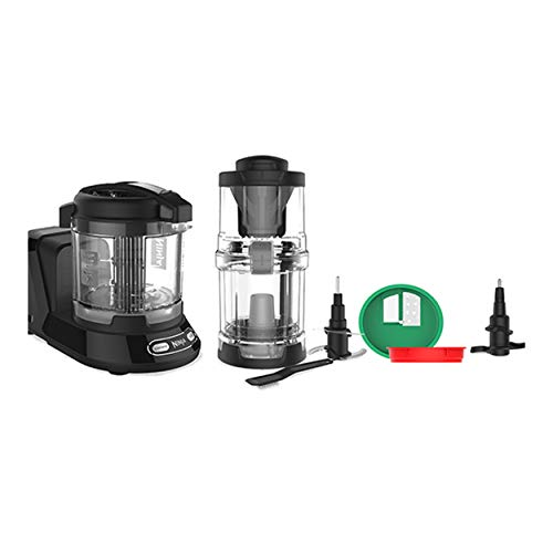 NINJA NN310QBL Precision Processor with Auto-Spiralizer, 4-Cup Bowl, 400 Watt, Black ( Renewed ))