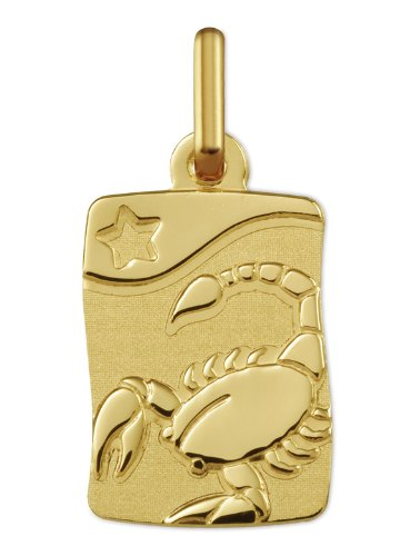 www.diamants-perles.com - Médaille Zodiaque - Or jaune 750/1000 - SCORPION