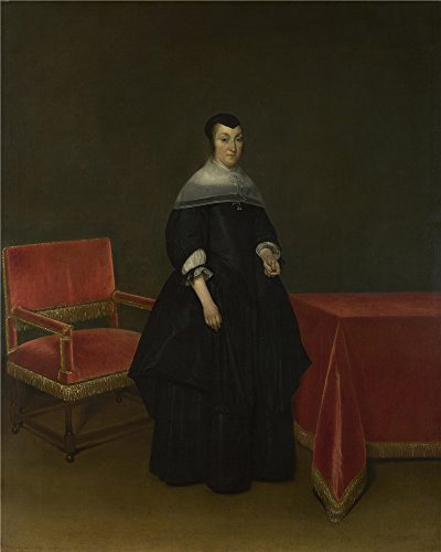 Oil Painting 'Gerard Ter Borch - Portrait Of Hermanna Van Der Cruis,about 1665-9' 8 x 10 inch / 20 x 25 cm , on High Definition HD canvas prints, gifts - Brands List Sunglasses Womens
