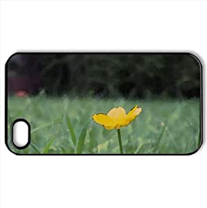 Buttercup Flower Watercolor style Cover iPhone 4 and 4S Case (Flowers Watercolor style Cover iPhone 4 and 4S Case)