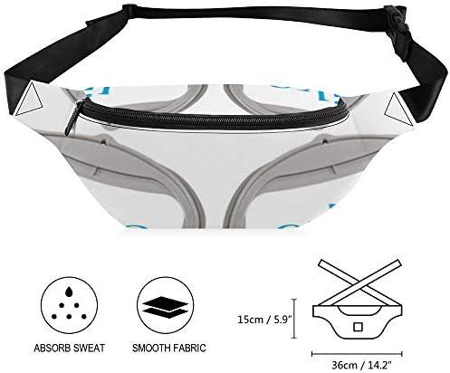 EGビッグフープBL RD ウエストバッグ ショルダーバッグチェストバッグ ヒップバッグ 多機能 防水 軽量 スポーツアウトドアクロスボディバッグユニセックスピクニック小旅行