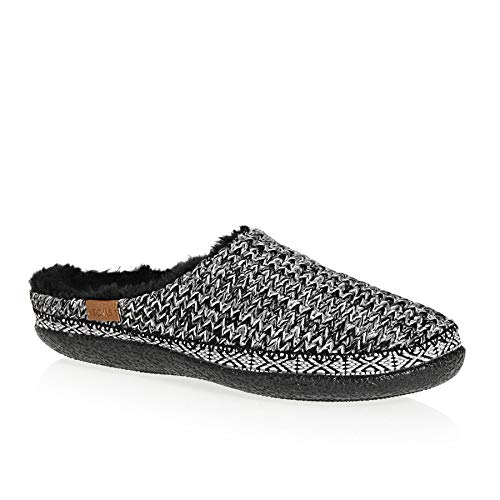 TOMS Women's Ivy Slipper Black/White Knit 6 M
