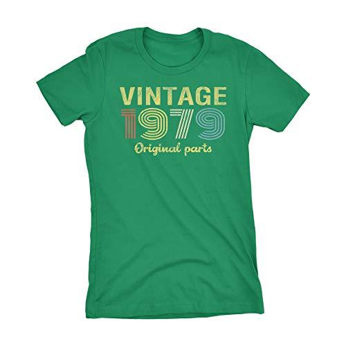 40th Birthday Gift Womens T-Shirt - Retro Birthday - Vintage 1979-001-Kelly-Lg 40 Years Old T-shirt
