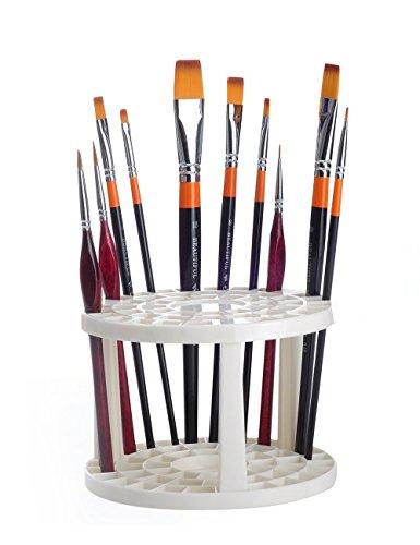 MEEDEN 49 Holes Paint Brush Organizer Holder Hard Plastic As