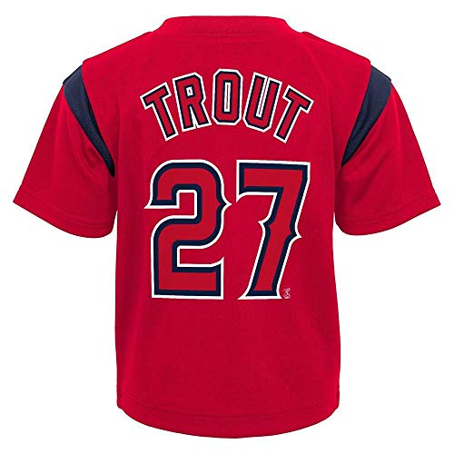 (Outerstuff MLB Toddler 2T-4T Team Player Name and Number Jersey T-Shirt (4T, Mike Trout Los Angeles Angels))