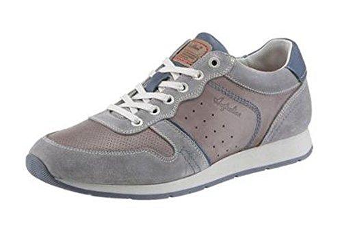 Australian Sneaker Aus Leder und Veloursleder in Grau Used