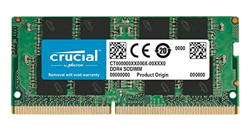 Crucial 32GB (2 x 16GB) DDR4 2666MHz SODIMM Memory Upgrade Kit CT2K16G4SFD8266 Compatible with 27 inch iMac (iMac19,1 iMac20,1 iMac20,2)