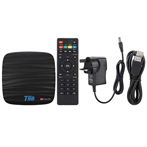 BTIHCEUOT Android 8.1 TV Set Top Box, 4K Ultra HD Media Player with 4+32G Quad Core 1.8GHz GPU Voice Control Smart Network Box, 110-240V(UK Plug)