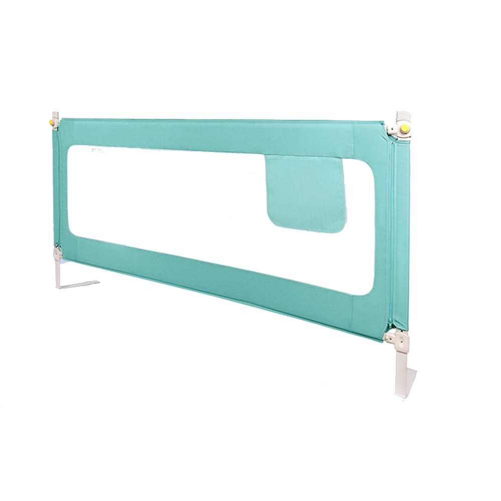 LHA ベッドガードフェンス 幼児、子供、頑丈なベビーベッド用折り畳み式安全肘掛け (色 : Green, サイズ さいず : L-180cm) L-180cm Green B07JVFMKB4