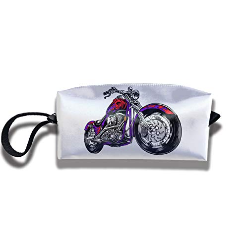 Cosmetic Bags With Zipper Makeup Bag Cool Motorcycle Middle Wallet Hangbag Wristlet Holder ()