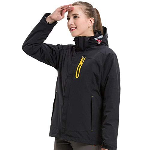 Travel Uomo women Da Invernale Pile Trekking Black Giacca Impermeabile Alpinista In Giacche Donna Zhrui Con Medium colore Sportswear Dimensione Outdoor Softshell Cappuccio E wRxtaFyq