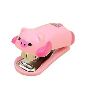 Juego de 2 cute portable pink piggy mini grapadora de mesa - Grapadora de mano ...