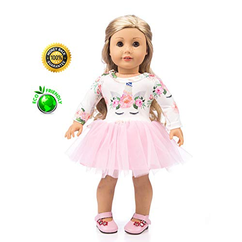 axxxt American girsl Doll Unicorn Clothes, American girsl Doll Unicorn,American girsl Doll Accessories Outfits Fits 18