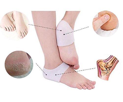 New Heel Pain Gel Pads Insoles Plantar Fasciitis Treatment Sore Feet Bruised Foot Bone Spurs Pain Relief (1 Pairs)