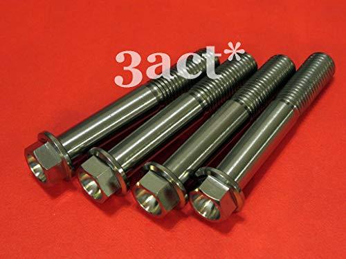 FidgetKute 4pcs Ti/Titanium Bolts - Ninja H2, ZX-10R, ZX-14R Front Brake Caliper