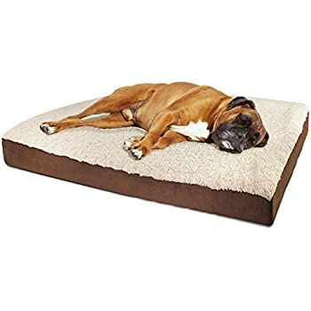 oxgord orthopedic pet bed for dogs u0026 cats quilted rectangular fits crate