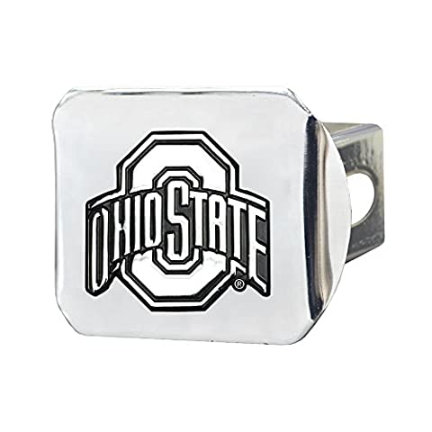 FANMATS NCAA Ohio State University Buckeyes Chrome Hitch Cover - Trailer Hitch Cover