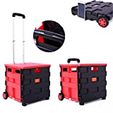 Trolley on Wheels Boxes with Lids Tool Box Shopping Folding Cart Lid Crates Lakeland Storage Drinks Trolly Outside Foldable Fold up Table Bag,S