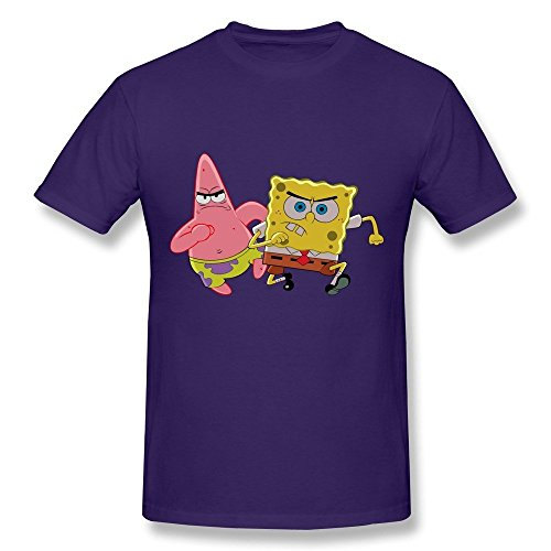 HD-Print Vintage Spongebob Squarepants Sponge Bob Tee For Men Purple Size L (Ps3 Games Spongebob)