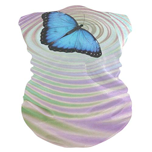 Blue Butterfly Headband Womens Bandana Mens Balaclava,Neck Warmer,Face Mask,Neckerchief Headwrap