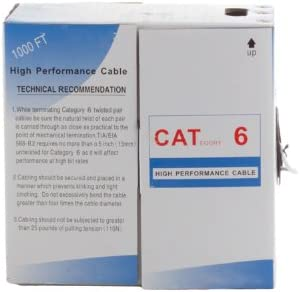 1000 Pull Box White, 550MHZ UTP Cat6 Ethernet Cable