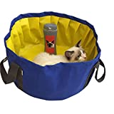 """ROZKITCH Portable Foldable Pool Dogs Cats Bathing Tub Bathtub Wash Tub Swimming Pool for Small Dogs and Cats Outdoor/Indoor, 18''×8.6"""""""