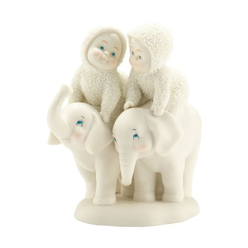 Department 56 Snowbabies Classics Tail of Two Trunks Figurine, 4.33 inch
