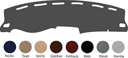 Chevy Silverado Dash Cover Mat Pad All Models - Fits 1997, 1998 (Custom Carpet, Charcoal)