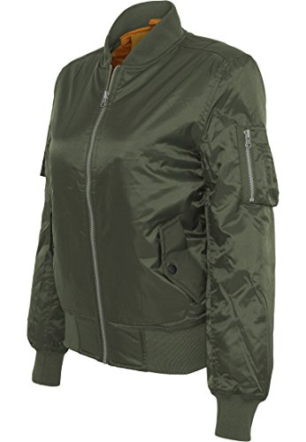 Urban Classics TB807 Ladies Basic Bomber Jacket Woman Color olive Size XL