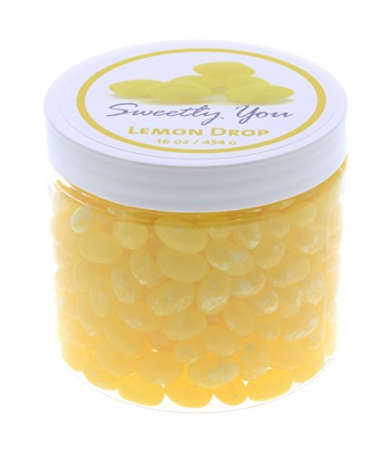 Beans Drop Jelly Lemon - Jelly Belly 1 LB Lemon Drop Flavored Beans. (One Pound, 1 Pound) Bulk Jelly Beans in a resealable and reusable jar.