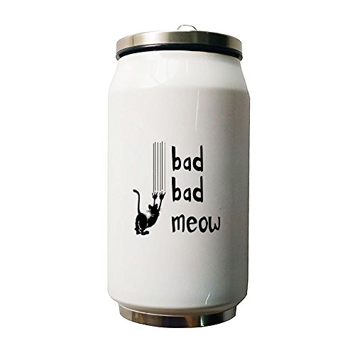 Kdnsgfds Bad Bad Meow Double Vacuum Insulated Stainless Steel Coke Cans Water Bottle,500ml - Personalized Gift For Birthday,Christmas And New (Cocacola Can Costume)