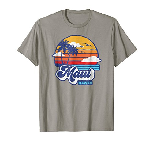 Maui Beach Hawaii Vintage Eighties Vibe Surf T-Shirt