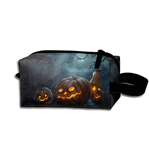 JONHBKD Cosmetic Bags Travel Portable Makeup Pouch Spooky Halloween Clutch Bag -